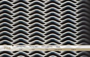Pisa, Mesh Metal, architectural metals, architectural metal screen