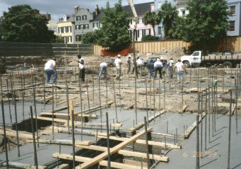 foundation piles pier and beams foundation concrete grade beam forms