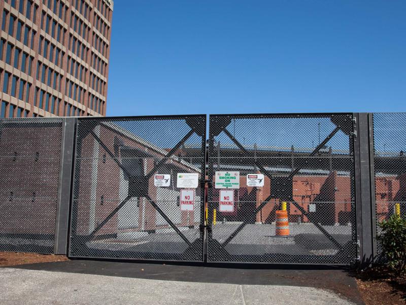 Double-Swing-Gate-Street-View-Portland,-ME