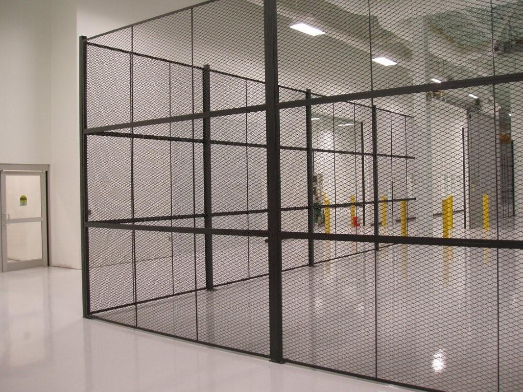 Metal Partition Walls : Amico security products secura mesh cage and partition