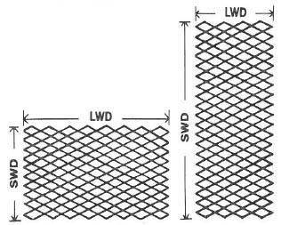 Expanded Metal Diamond Orientation pic
