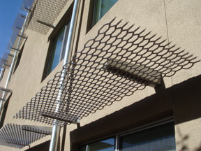 expanded grating sunshade
