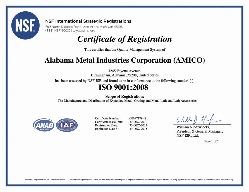 AMICO ISO cert-12-29-15