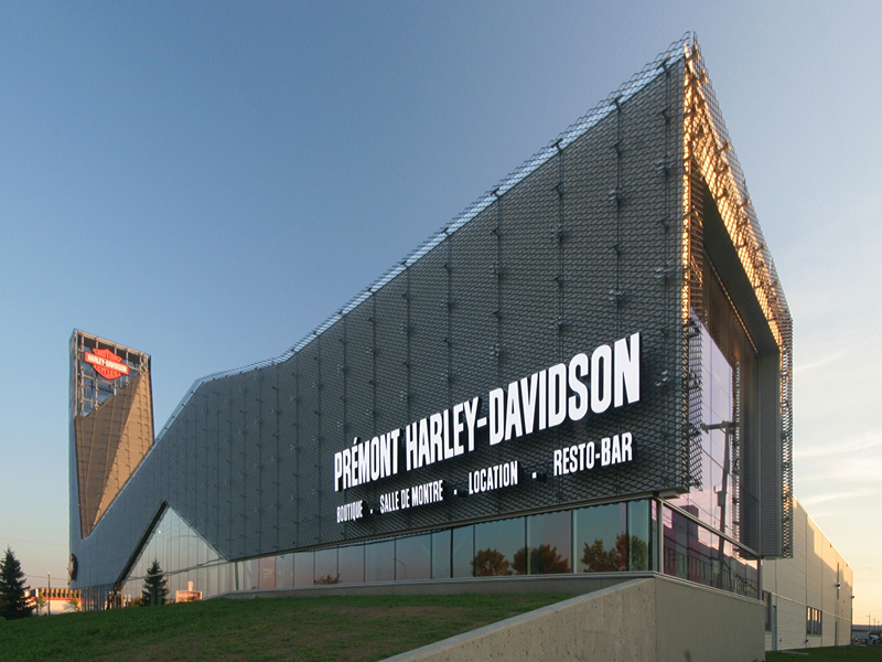 Harley Davidson Portland >> Amico Architectural Products - APEX Project Examples