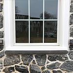 Creates uniform spacing & a smooth transition around windows, doors & soffits
