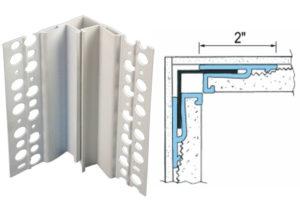 inside corner expansion joint, corner expansion joints, drywall expansion joint corner