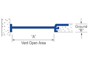 continuous soffit vent, shadow vent, one piece soffit vent