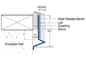 Weep Screed Extended Leg, leg foundation, Foundation Weep Screeds